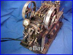 Early 20thc DOLL + Co GERMANY Stationary LOKOMOBILE Large TOY STEAM ENGINE