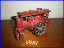 Early Cast Iron Red Hubley / Arcade STEAM ENGINE