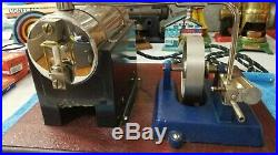 Early Jensen #5 wide base Steam Engine Very rare item Brass tag
