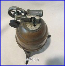 Early Unusual Spun Copper Bee Hive Toy STEAM ENGINE Motor Rare 6.5 Antique Old