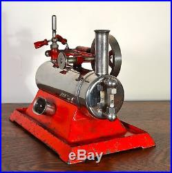 Empire metal ware toy model steam engine B30 cast iron vintage