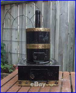Fine Ornate Vertical Steam Engine Circa 1885