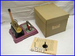 Fleischmann Burning Steam Model Engine no. 120 W. Germany Toy withBox Minty