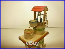 GERMAN MADE VINTAGE TIN TOY BUCKET WATER WELL for STEAM ENGINE H19.5cm GOOD