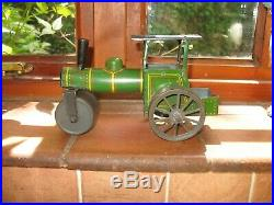 GUNTHERMANN STEAM ROLLER TRACTION ENGINE c. 1919 TINPLATE GERMANY WIND UP TIN TOY