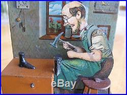 Gerrman Tin Steam Engine Toy / Bing Cobbler Schuhmacher