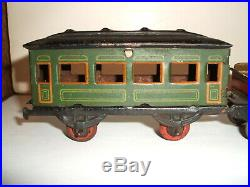 Hess penny toy steam engine and coach