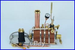 Horizontal steam boiler model with Steam whistle For Marine Steam Engine