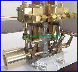 Hot Air Live Steam Engine All Metal Model Motor Model Educational Toy Kit G