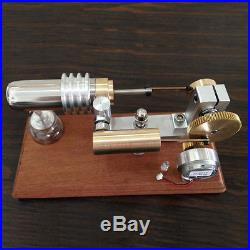 Hot Air Stirling Engine Model Electricity Generator Kids Educational Toy with LED