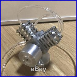 Innovative V2 Steam Engine Model with Boiler Mini Steam Engine Motor Toy 2 Cylinde