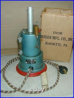 Jensen Style #45 Candlestick Vertical Boiler Steam Engine Very Nice Works