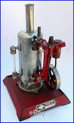 JK 247 Vintage Empire B-31 Electric Verticle Steam Engine Cast Iron Base Neat