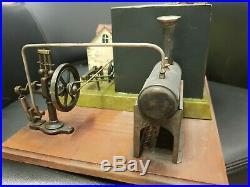 Jean Schoenner Steam Engine Water Mill Diorama, Germany, 1902 Fabulous