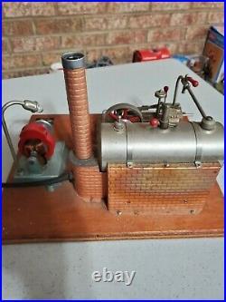 Jensen #10 steam engine model toy vintage cast iron 15 generator