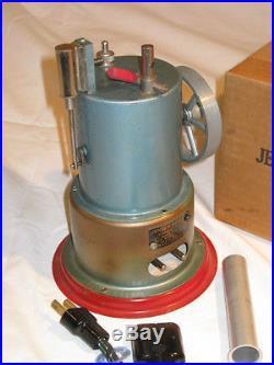 Jensen Model #45 Vertical Candle Stick Steam Engine RARE Brass Boiler