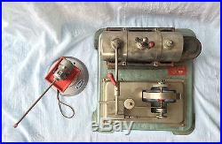 Jensen Steam Engine # 65 Vintage Toy + Wilesco accessory grinder maybe