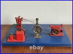 Jensen Steam Engine Toy Machine Shop 100 Partial Parts Original Untested