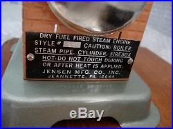 Jensen dry fuel fired steam engine style 85 toy
