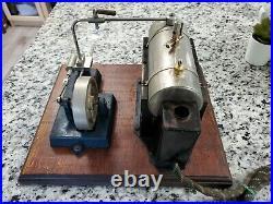 Jensen model #25 steam engine model on wood base 1940's 1950's