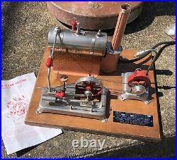 Jensen steam engine model 25 G toy vintage wood base