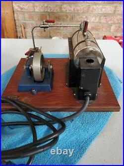 Jensen steam engine model 25 toy vintage wood base