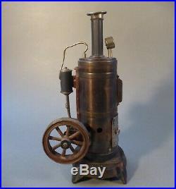 Josef Falk Standing Steam Engine Steamtoy Heißluftmotor Toy um 1910