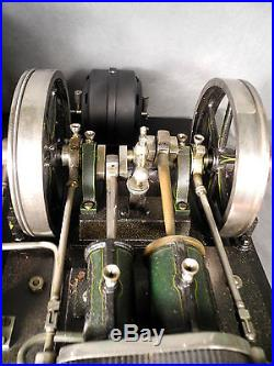 LARGE ANTIQUE MARKLIN 4158/94/11 COMPOUND DUAL 5 1/2 FLYWHEEL LIVE STEAM ENGINE