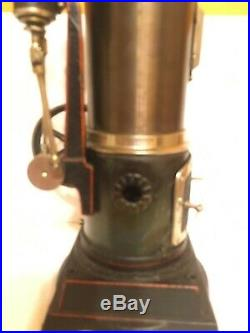 LARGE ca1930 DOLL VERTICAL STEAM ENGINE TOY MODEL 354/1 COMPLETE AND BEAUTIFUL
