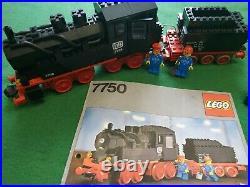 LEGO 12V 7750 Dampflokomotive +BAL Eisenbahn / Steam Engine+Instr Train Vintage