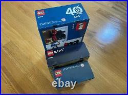 LEGO 40409 Hot Rod, 40448 Vintage Car, 40370 Steam Engine Train Lot, NEW Sealed
