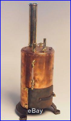 Large ANTIQUE Early 1900'S GERMAN LIVE STEAM ENGINE TOY DAMPFMASCHINE BRASS