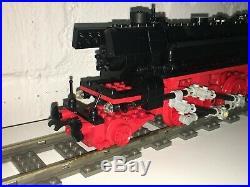 Lego Custom 9v Train German Steam Engine Br 23 + Tender 18 Inch Long