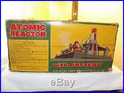 Linemar Marx Atomic Reactor with battery Steam Engine With Original Box 1950s