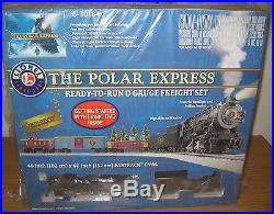 Lionel 6-30184 Polar Express 0-8-0 Steam Engine Freight Toy Train Set O Gauge