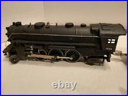 Lionel Prewar 1666 Steam Locomotive With 2689T Tender & 3 Tin Cars Nice Clean