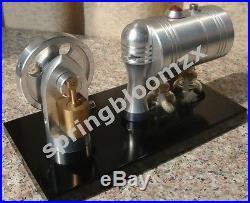 Live BRASS Cylinder Steam Engine DIY Stirling Science Educational toy Kit K005