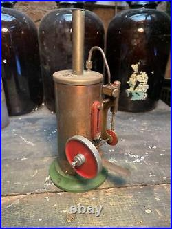 Live Steam Burnac Vulcan Model Vertical Stationary Engine Vintage Toy