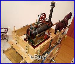 Live Steam Engine Cart Carriage Drawn Wood Iron Tin Toy Dampfmaschine Sicily