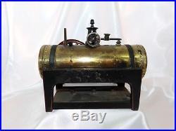 Live Steam Engine Horizontal Gebruder Bing Model Antique