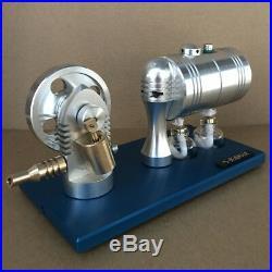 Live Steam Engine Motor Toy with Boiler DIY Steam Heated Engine Generator Motor