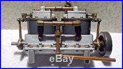 Live Steam Engine Rare Boucher Double Twin Marine