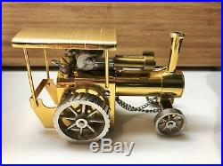 Live Steam Engine Tractor LS-LOC Gold Plated Model