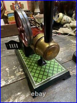 Live Steam Gebrüder Bing Stationary Overtype Semi-Portable Engine Model Toy