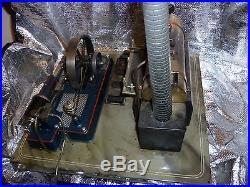 Live steam antique steam engine tin toy tinplate vintage stationary engine