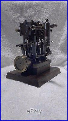 Live steam engine Twin marine Large