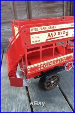 MAMOD Live Steam Engine Pressed Steel Red LONDON DOUBLE DECKER BUS