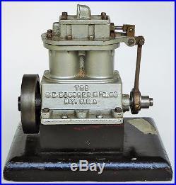 M. E. Boucher M. F. G. N. Y. Live Steam Engine Type 7 Rare Salesmans Sample/base