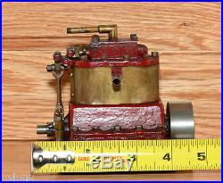 Machinist Made Antique Brass and Steel 2 Cylinder Model Steam Engine