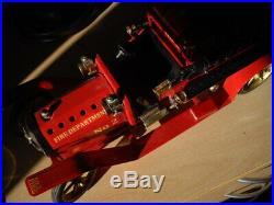 Mamod Steam Engine Running Custom Tin Toy Fire Engine